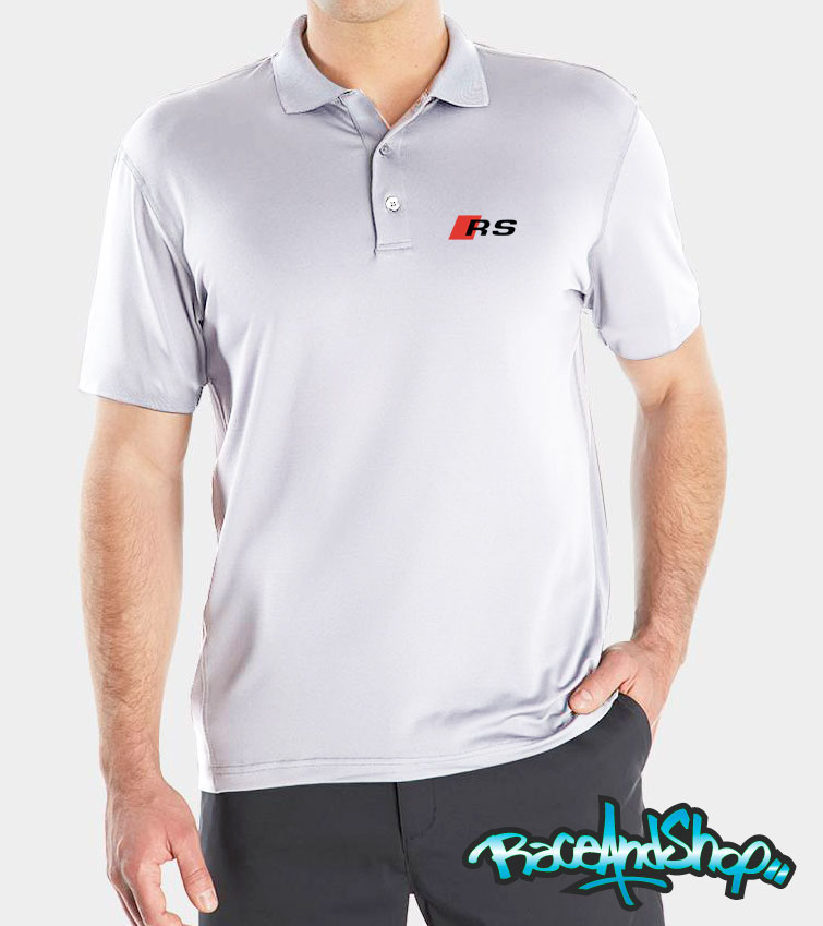 ebc3d2f3c4f5b Playera Tipo Polo Audi RS Caballero – Playeras Dri Fit autos Race ...